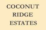 sign for Coconut Ridge Estates
