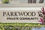 sign for Parkwood V