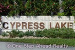 sign for Cypress Lake