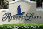 Regency Lakes community sign